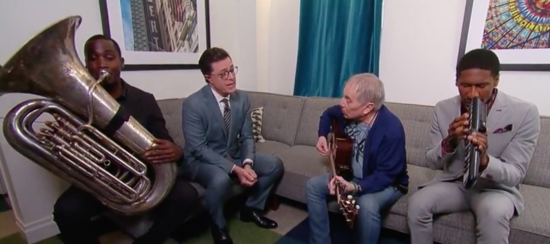 stephen colbert paul simon groot